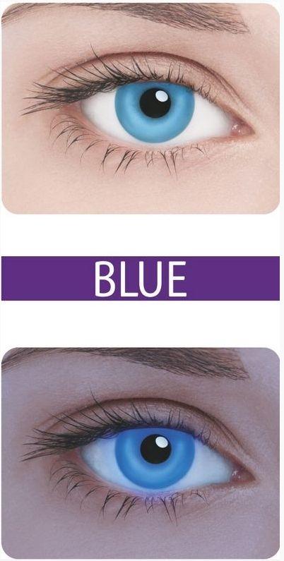 Неоновые линзы Neon Blue - Линзы