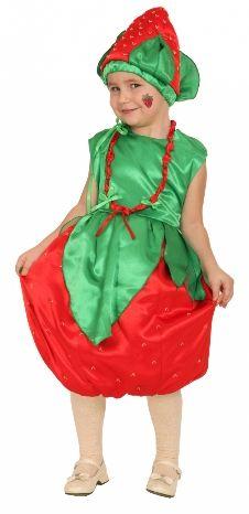 Карнавальный костюм Клубничка (30-34) костюм прекрасной шапочки 30