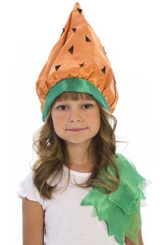 Карнавальная шапочка Морковка (44) - Шляпы карнавальные, р.44