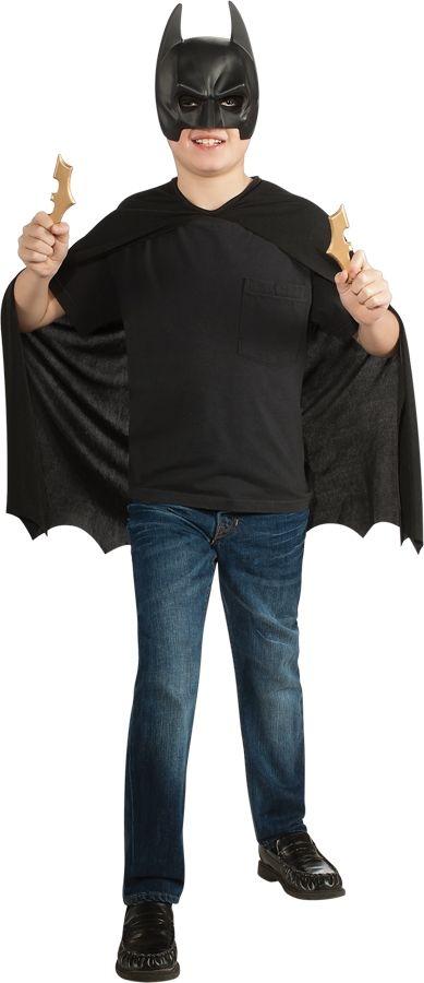 Детский костюм Бэтмена с сюрикенами (UNI) плащ и маска черепашка ниндзя uni