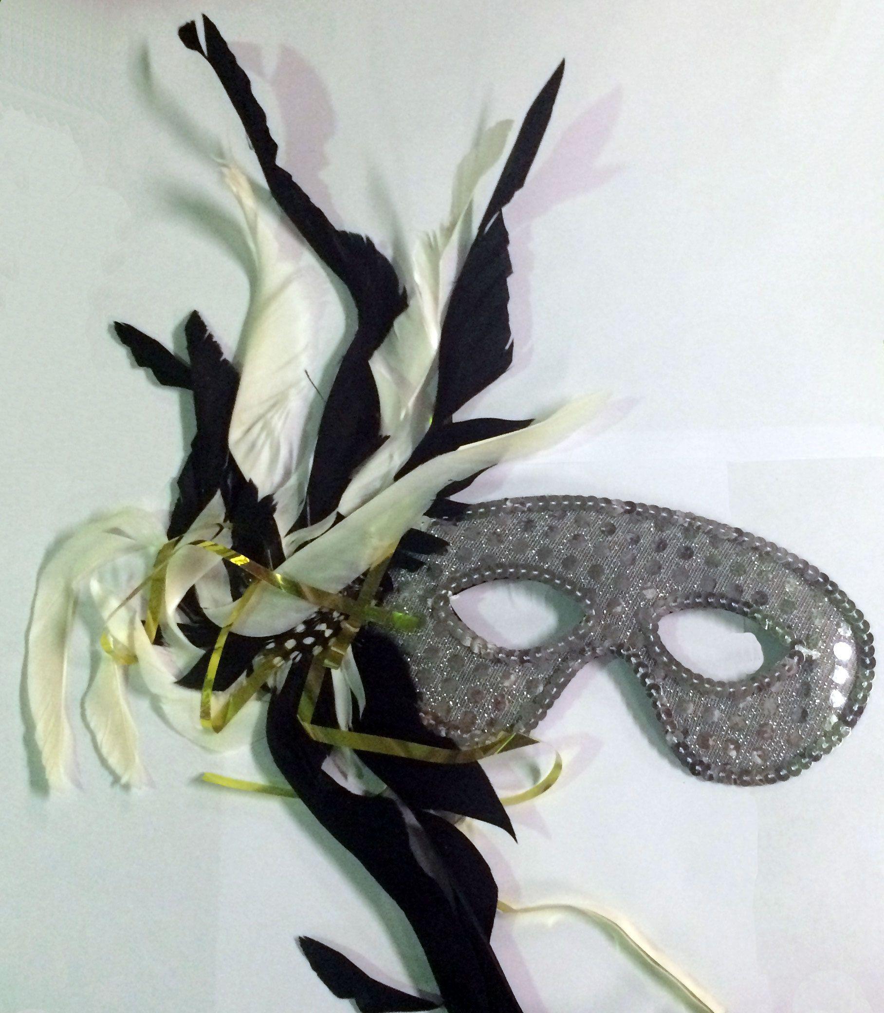 Карнавальная маска с перьями - Карнавальные маски