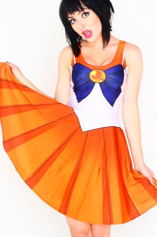 где купить  Оранжевое платье Сейлор Мун (44)  дешево