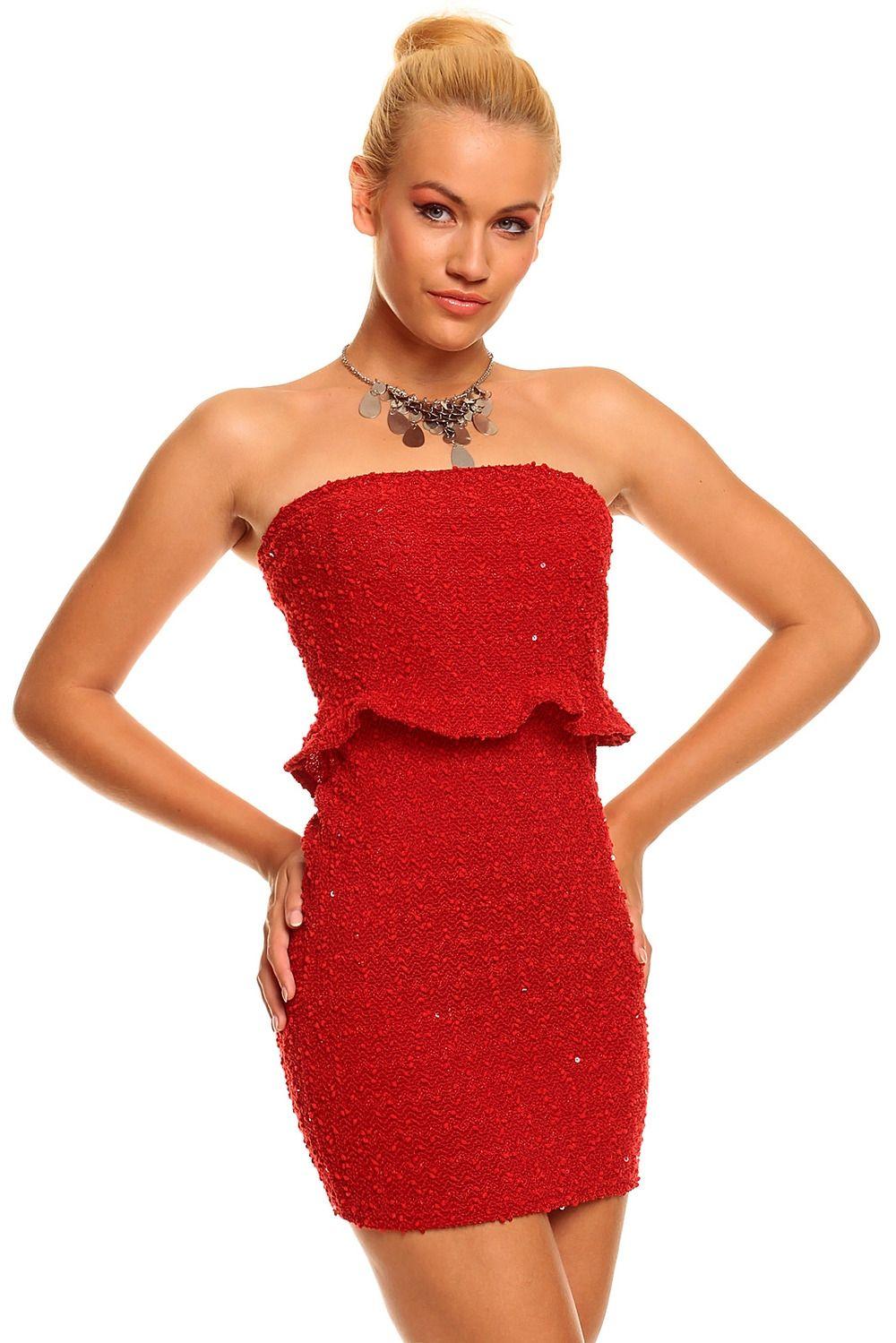 Красное приталенное платье (42-44) пижама жен mia cara майка шорты botanical aw15 ubl lst 264 р 42 44 1119503
