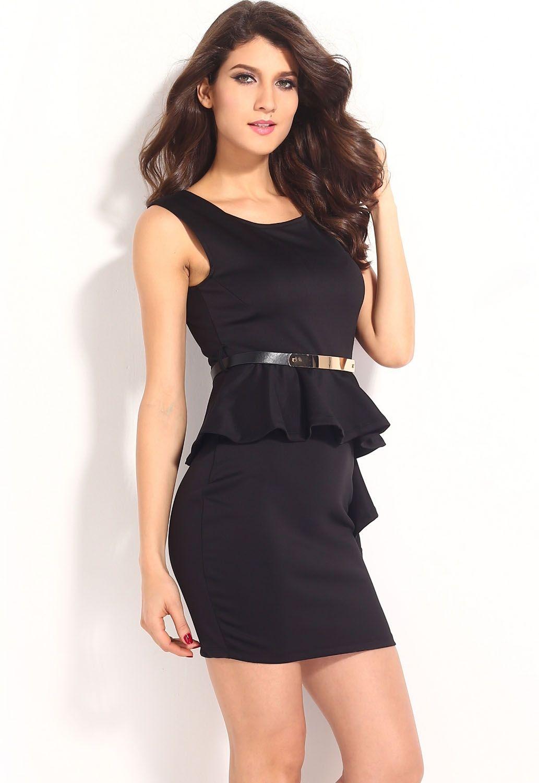 Черное сексуальное платье на молнии (44-46) платье черное с кружевной баской 44