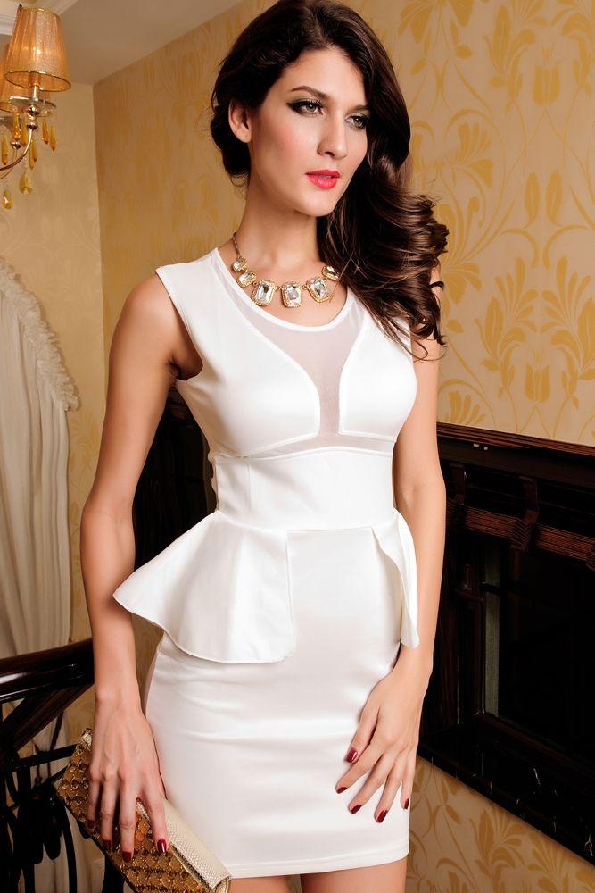 Нежно-белое платье (46) -  Коктейльные платья