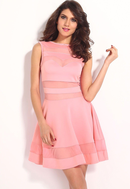Розовое платье (44) -  Коктейльные платья
