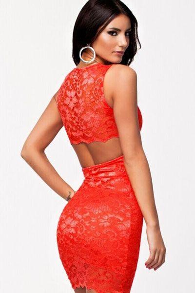 Красное клубное платья
