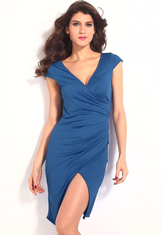 Синее платье (44) -  Коктейльные платья