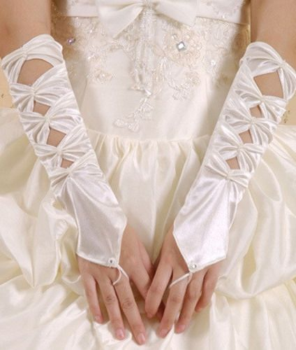 Белые сатиновые перчатки (42-44) пижама жен mia cara майка шорты botanical aw15 ubl lst 264 р 42 44 1119503