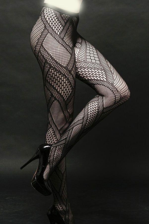 Черные колготки с узором (42-44) пижама жен mia cara майка шорты botanical aw15 ubl lst 264 р 42 44 1119503