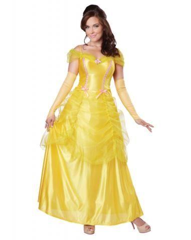 Желтый костюм принцессы Бэлль (48-50) островок уюта комод пеленальный бабочки белый