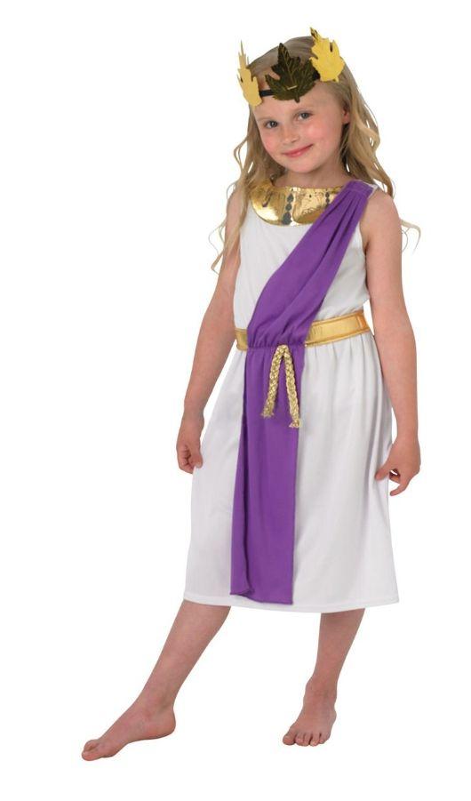 Костюм Римской девочки (30-32) платье barkito солнечный берег 2 белое в синюю полоску и с синей отделкой