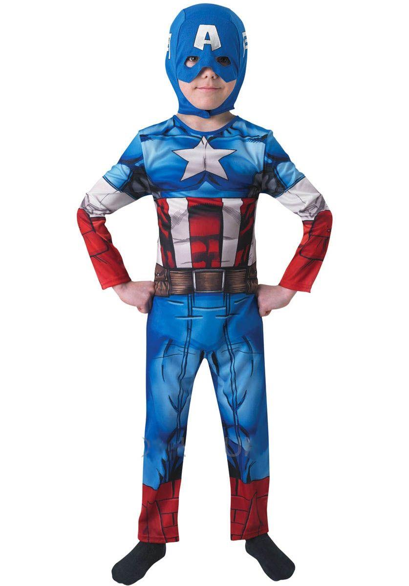 Детский костюм Капитан Америка (L) - Супергерои и комиксы