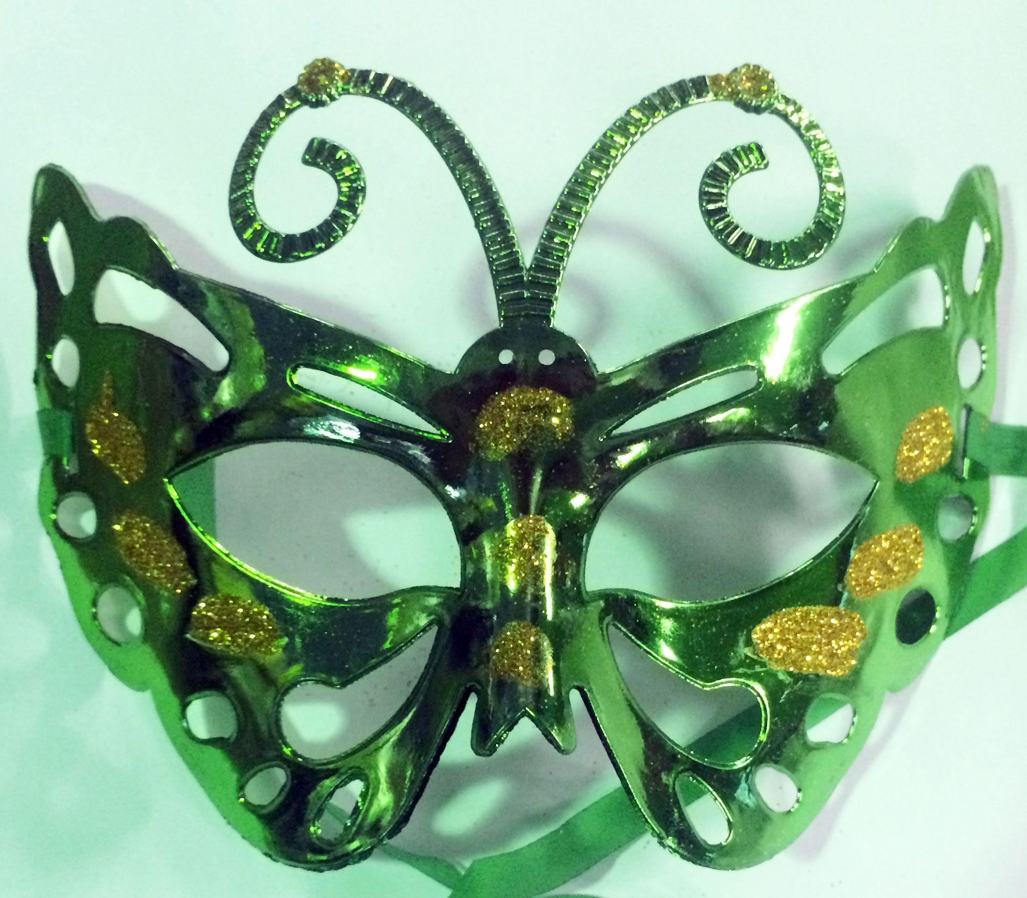 Маска бабочка зеленая (UNI)