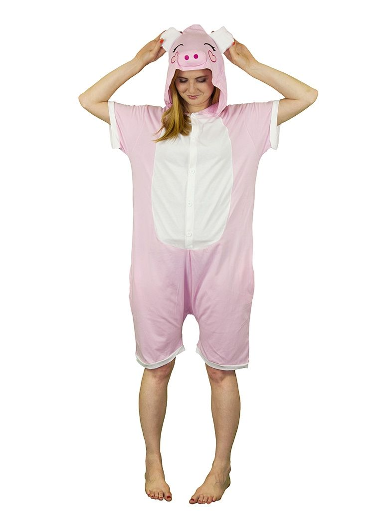 Пижама-кигуруми Розовая свинка с шортиками (50) - Спорт, р.50