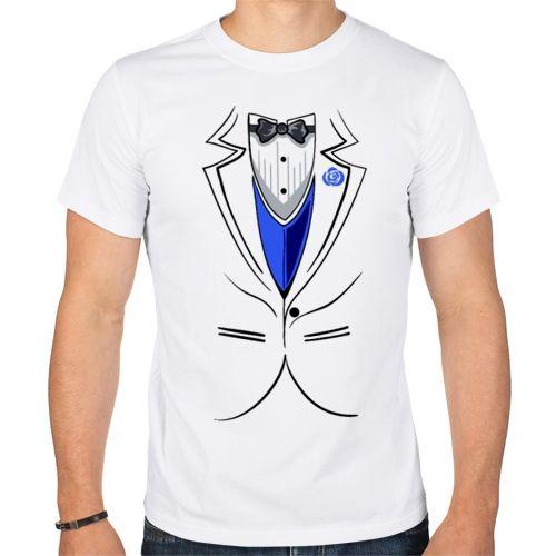 Мужская парная футболка Жених (50) - Футболки с принтами, р.50