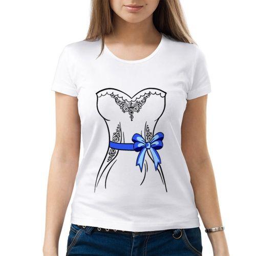 Женская парная футболка Невеста (M) - Футболки с принтами