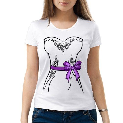 Парная женская футболка Невеста (M) - Футболки с принтами