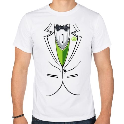 Мужская футболка парная Жених (XL) - Футболки с принтами