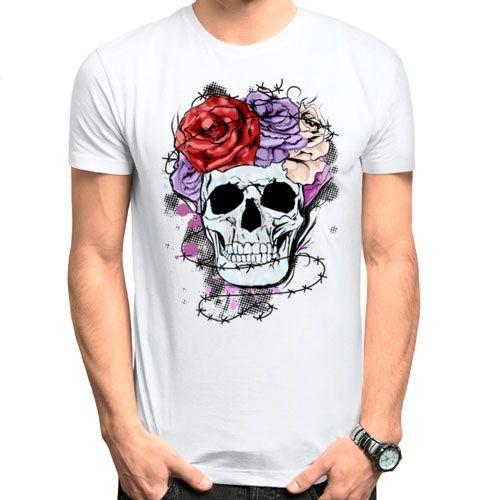Мужская футболка Glam rock skull (50) - Футболки с принтами, р.50