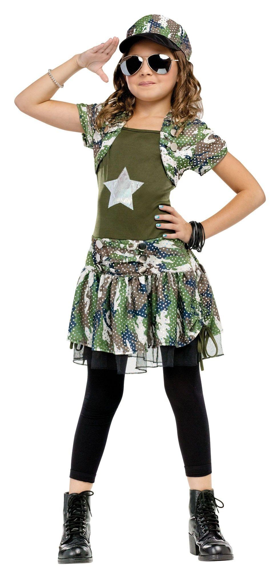 Детский костюм армейской девочки (34-38) детский костюм клоуна весельчака 38