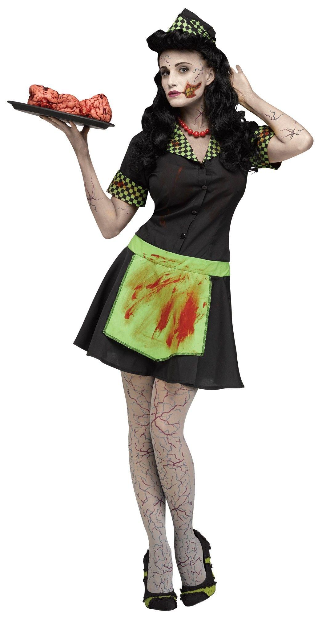 Костюм зомби-автомобильной официантки (46-48)