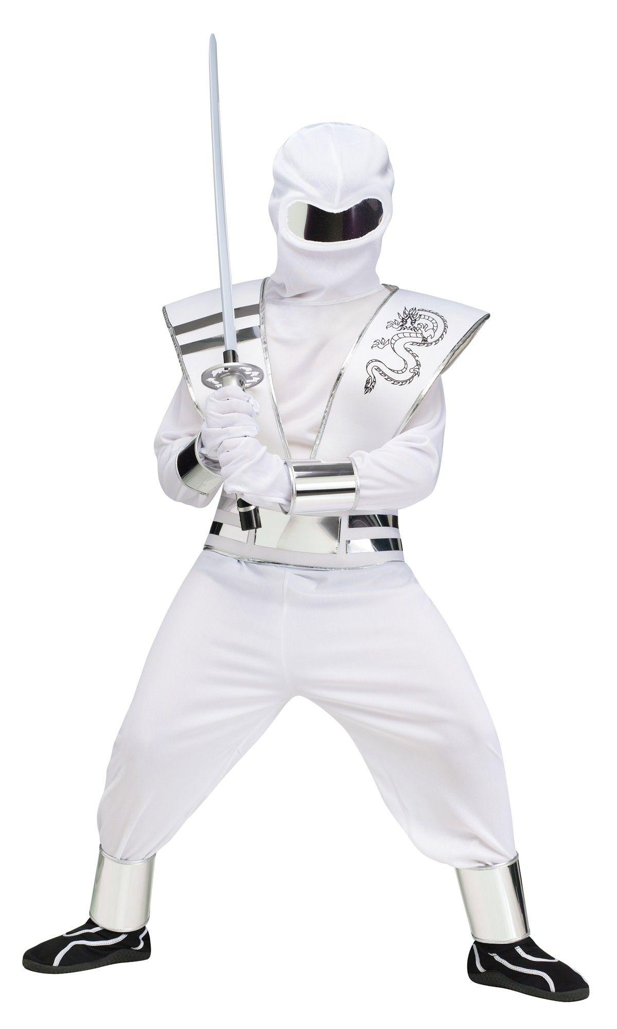 Детский белый костюм Ниндзя (34-38) детский костюм клоуна весельчака 38