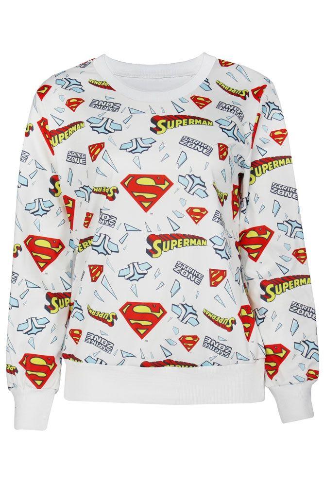 Белая толстовка Супермен (44)