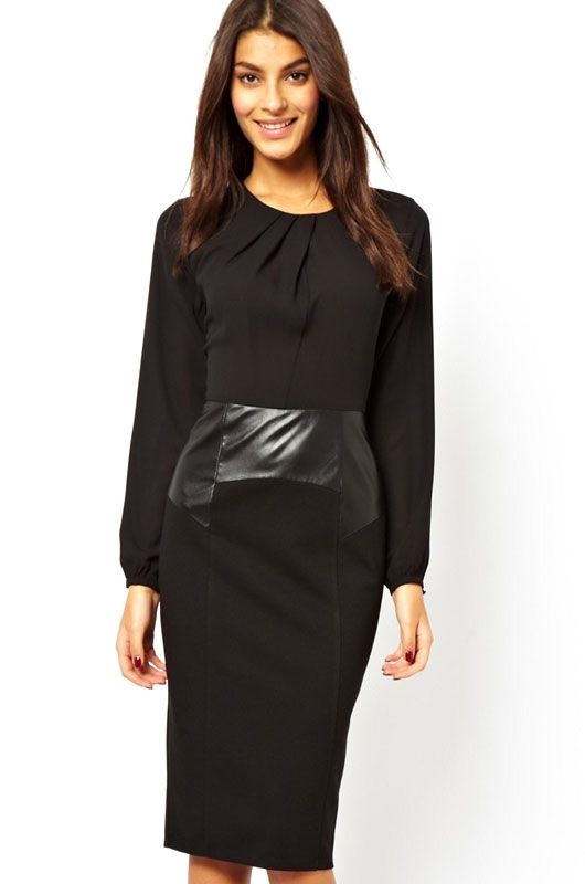 Черное платье-карандаш (44-46) элегантное черное платье где