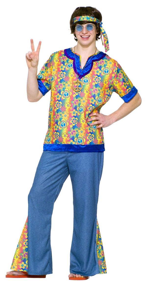 Подростковый костюм Хиппи 60-хх (48) костюм цветочной хиппи 48