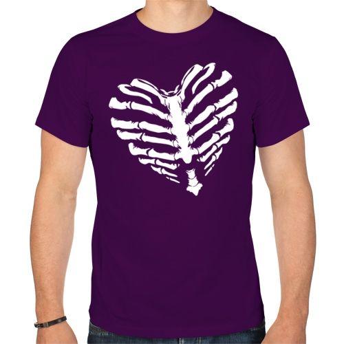 Мужская футболка с сердцем (XL) - Футболки с принтами