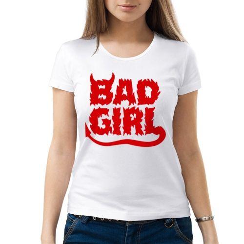 Женская футболка Bad girl (M) - Футболки с принтами