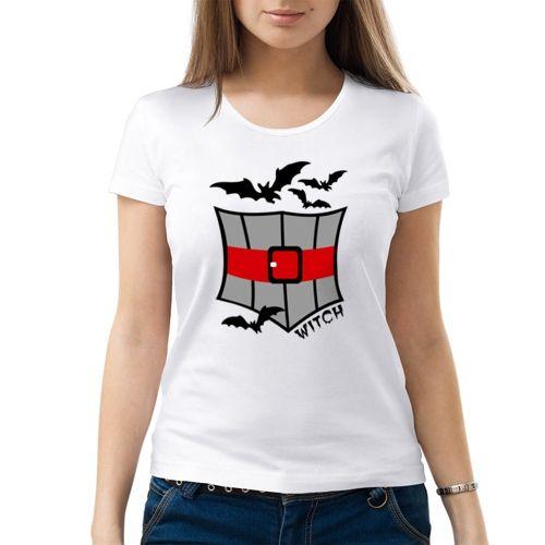 Женская футболка Наряд ведьмочки (M)