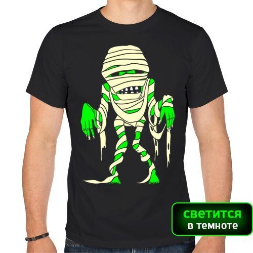 Мужская футболка Зомби-мумия (50) - Футболки с принтами, р.50