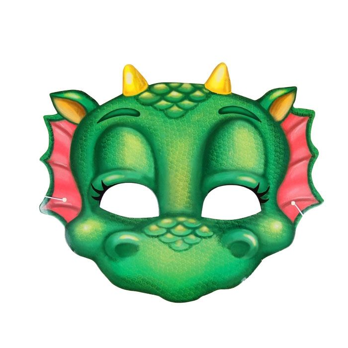 Маска милого зеленого дракончика - Сказочные герои