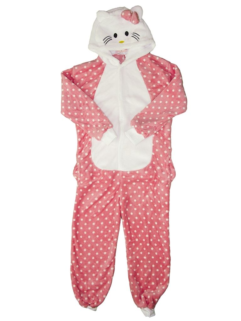 Детская пижама кигуруми HelloKitty (28) детская обувь для дома hellokitty 14623