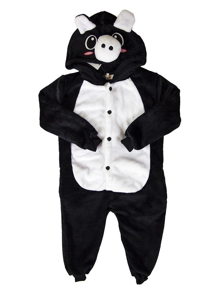 Детская пижама кигуруми Черная хрюшка - купить на Vkostume.Ru ... e43b429c2de58