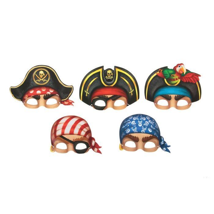 Набор масок Пираты, 5 шт