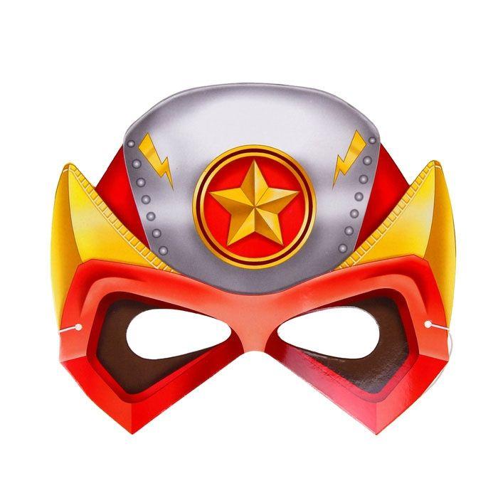 Маска Супергероя красная (UNI) консультирование родителей в детском саду возрастные особенности детей