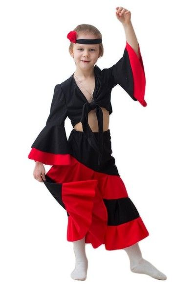 Детский костюм испанки (32-34) детский костюм джульетты 32 34