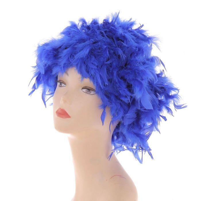 Синий перьевой парик (UNI) серый парик парик вайс шнее uni