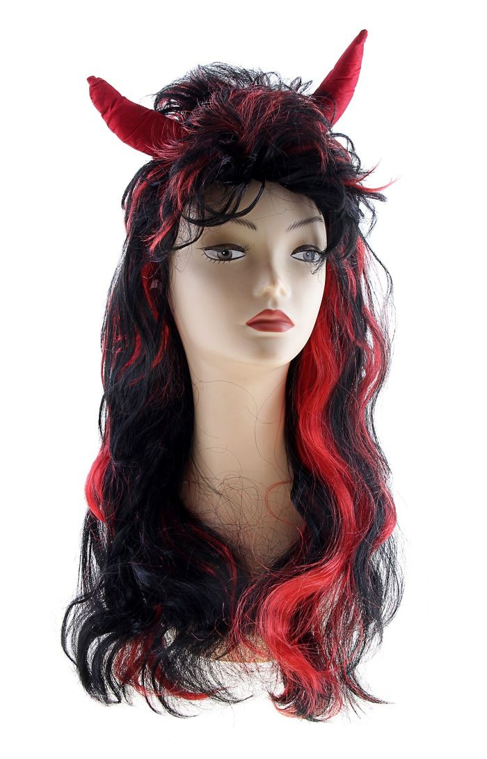 Купить со скидкой Длинный парик дьяволицы (UNI)