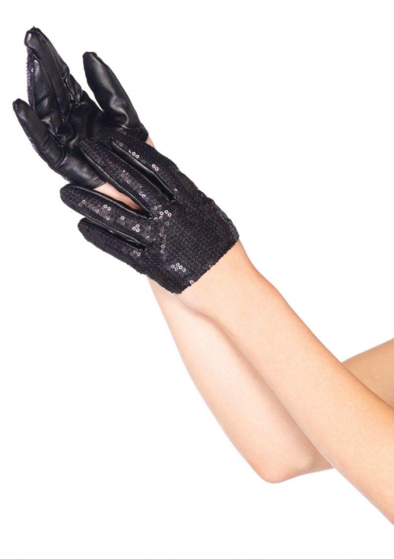 Короткие перчатки с пайетками (UNI) детские перчатки авроры uni
