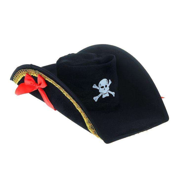 Шляпа пиратки с бантами (UNI) -  Пираты и моряки