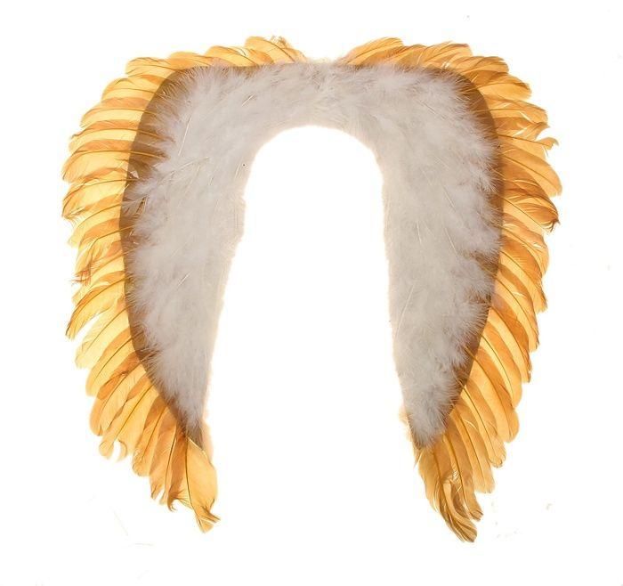 Крылья ангела бело-золотые