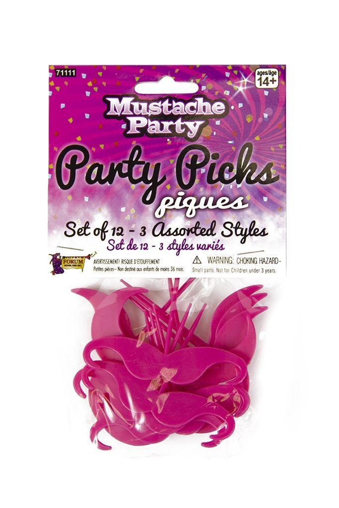 Набор розовых пластиковых усов 12 шт (42-46) ollin professional зажимы бабочка 12 шт 2 вида зажимы бабочка 12 шт 2 вида 12 шт 55 мм
