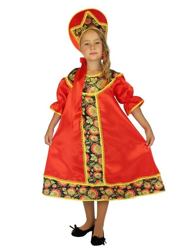 Детский костюм в стиле Хохлома (28) детский костюм озорного клоуна 34