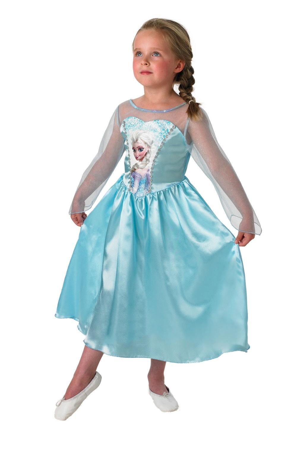 Атласное платье Эльзы из Холодного Сердца (M) - Сказочные герои