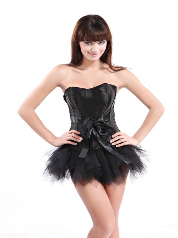 Черный атласный корсет с юбкой (44) Dg Lover 130630306