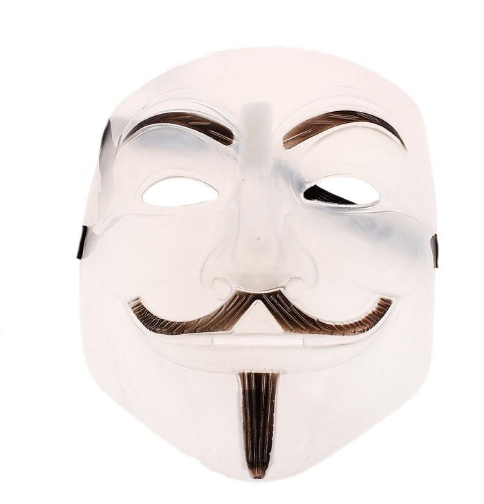 Светоотражающая маска Гай Фокс (UNI) плюшевая маска зайки uni
